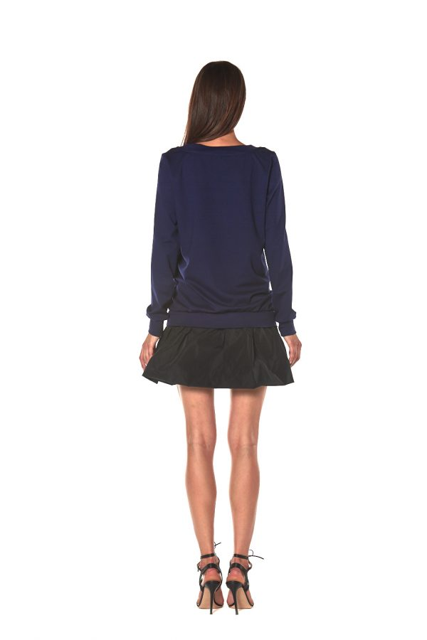 vestito corto manica lunga FIRENZE 3 LETWINS BLU