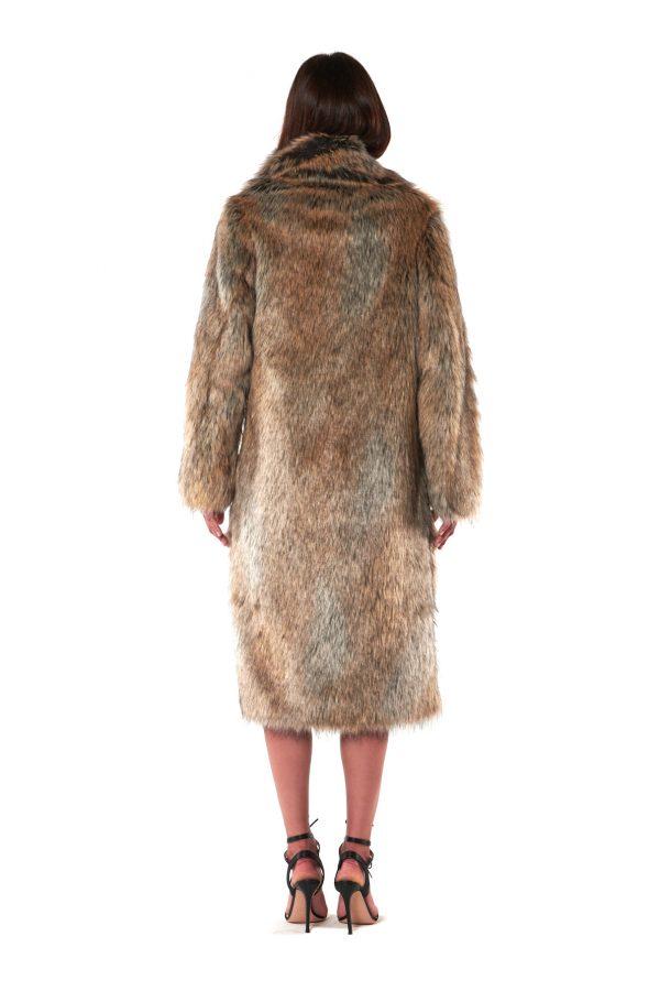 cappotto lungo pelliccia
