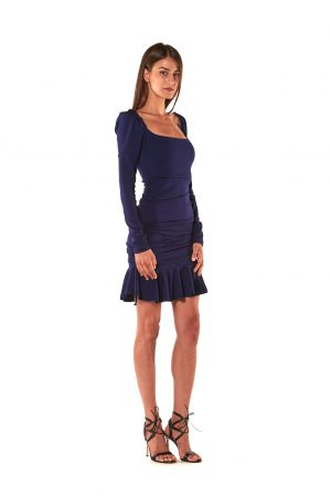 Vestito regolabile jersey blu