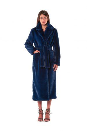 cappotto lungo vestaglia eco pelliccia