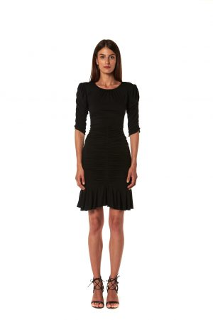 Vestito jersey nero