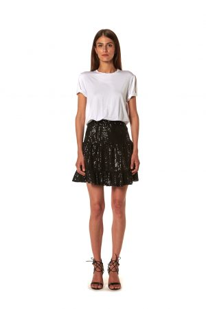 vestito gonna t-shirt corto paillettes