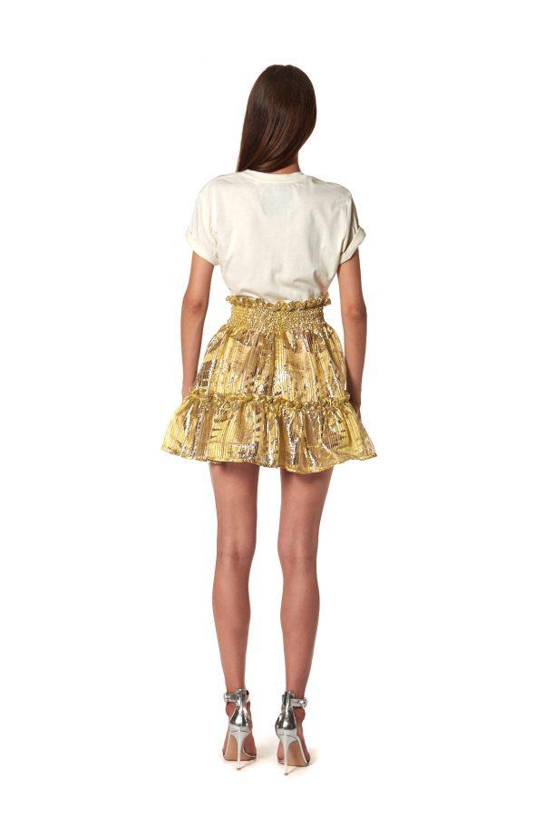 vestito gonna corto oro