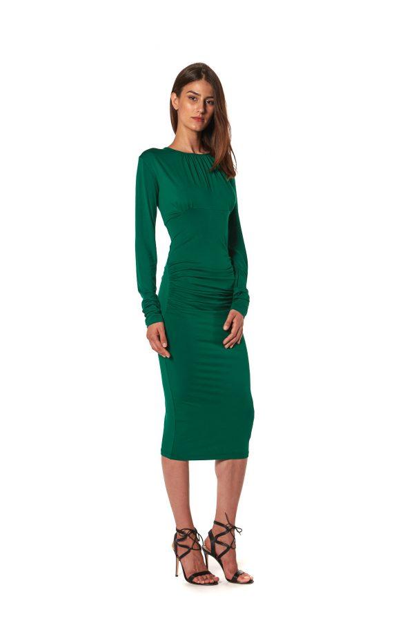 Vestito tubino jersey verde