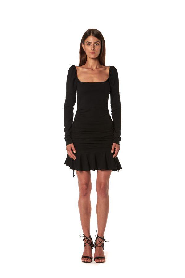 Vestito regolabile jersey nero
