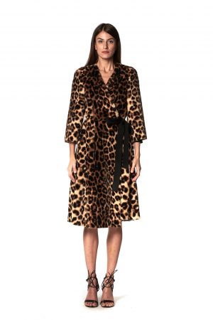 CAPPOTTO INCROCIO ANIMALIER 2