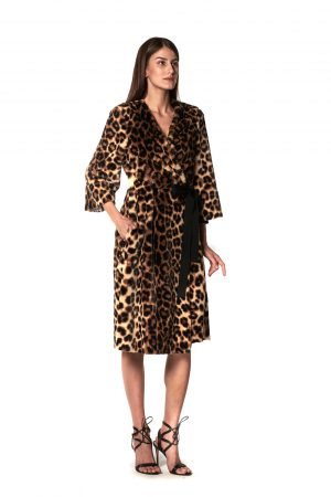 CAPPOTTO INCROCIO ANIMALIER 1