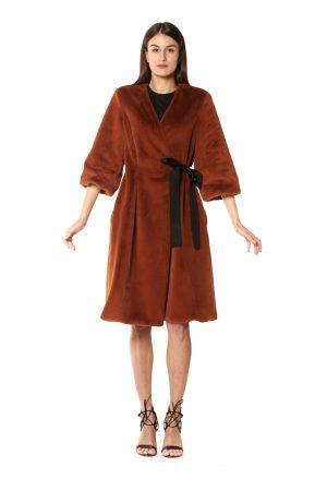 cappotto eco pelliccia mattone 2