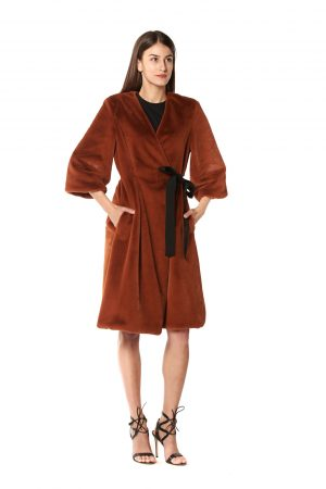cappotto eco pelliccia mattone 1
