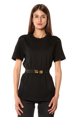 Cintura elastico fiocco strasse oro e nero