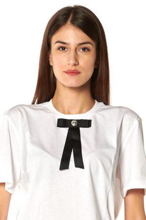 tshirt g bianca fiocco nero strasse bianco 2