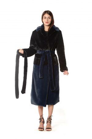 vestaglia eco bicolor blu e nera1