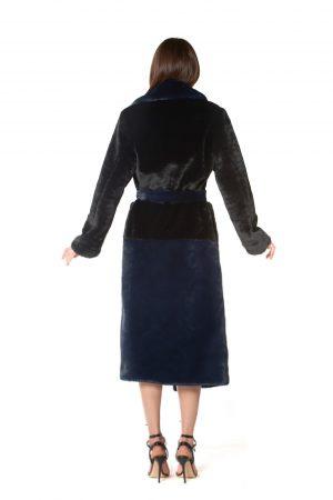 vestaglia eco bicolor blu e nera2