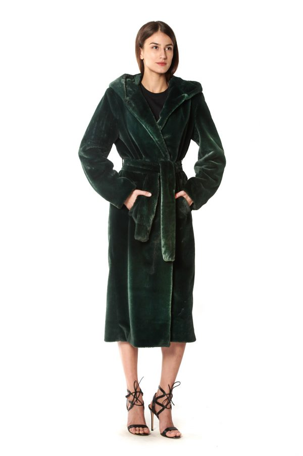 vestaglia eco verde+cappuccio 1