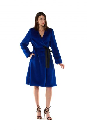 CAPPOTTO ECOPELLICCIA INCROCIO BLUETTE