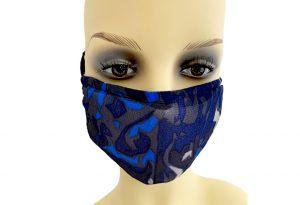 Mascherina-Portafiltro-Tulle-blu-fronte-Le-Twins