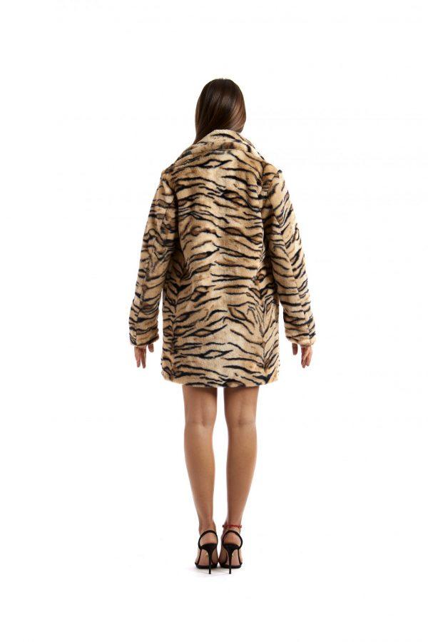 Greta Beige and Black Zebra-striped Print back